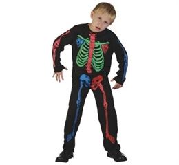 -Strój szkieletor kolorowy (kostium) 130/140 SDHK-LU038/130 GoD HALLOW