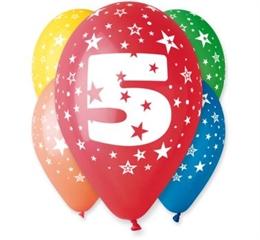 Balon 12   z nadrukiem   5   5szt. GoD