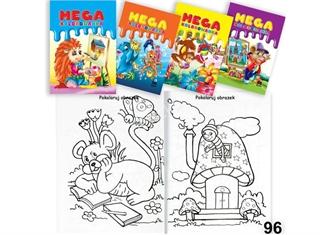 Książeczka mega kolorowanka 96 4 wzory Mix PSH