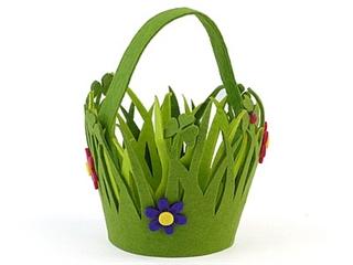 Koszyczek filcowy z kwiatami AD