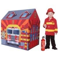 -Namiocik dla dzieci do zabawy   Fire Station   95x72x102cm, 100 #37; Polyester/PP