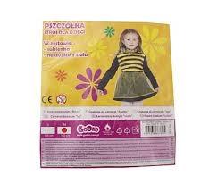 Strój  Pszczółka  (sukienka,naszyjnik z tiulu),roz.M/122cm GoD