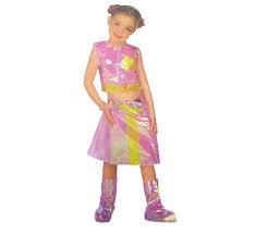 PROM Strój  Barbie disco  ,łososiowy,116cm/torba-wieszak GoD