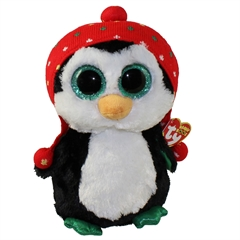 *Maskotka Beanie Boos FREEZE - penguin knit hat med