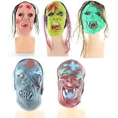Maska gumowa mix z włosami NO-79513