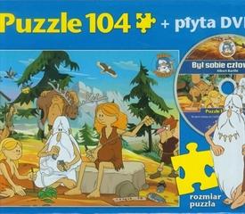 S.CENA Zestaw przedszkolaka 1-Gra dla najmłodszych Łowcy bakterii+Puzzle 104 Był sobie człowiek Prehistoria HIPP