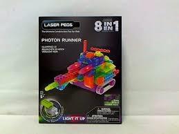 PROM LASER PEGS 8w1 klocki pojazd świecąceRN2180B