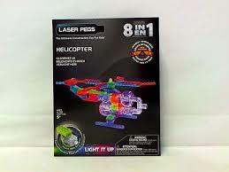 PROM LASER PEGS 8w1 klocki helikopter świecące G1270B