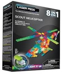 PROM LASER PEGS 8w1 klocki helikopter świecące PB2150