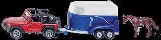 PROM S1651   Siku 16   - Jeep z przyczepą