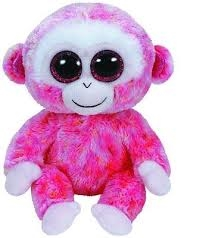 *Beanie Boos RUBY - red/white monkey