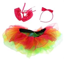 PROM Zestaw  Tęczowa balerina  (opaska,buty,spódniczka) GoD