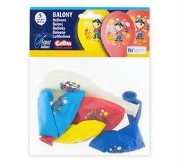 Balon Premium  Pirat  kolorowy 5szt GoD