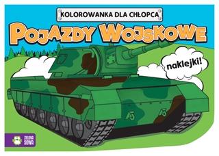 Kolorowanki dla chłopców. Pojazdy wojskowe 9788380733169