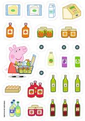 Puzzle -   35 Plus   - naklejki / Peppa Pig