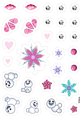 Puzzle -   54 Plus   - naklejki / Disney Frozen