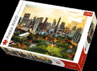 Puzzle -   3000   Zachód Słońca w Bangkoku / Trefl