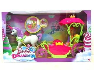 PROM Barbie karoca z lalką z Krainy Słodkości DYX31