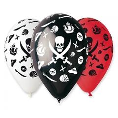 Balony Premium   Piraci  , 12  / 5 szt.