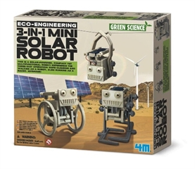 -F100. 3377 3-W-1 MINI SOLARNY ROBOT