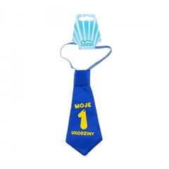 Krawat   Moje 1 Urodziny  , niebieski GoD