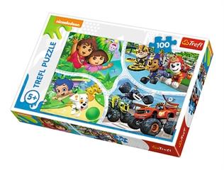 Puzzle -   100   - Jedna drużyna / Viacom Nick Jr Multi-Property