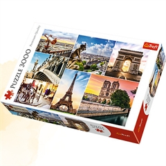Puzzle -  quot;3000 quot; - Magia Paryża - kolaż / Trefl