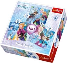 Puzzles -   3w1   - Zimowa magia / Disney Frozen