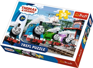 Puzzle - 30 - Wyścig na torach / Thomas and Friends