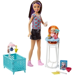 BRB Barbie Opiekunka zestaw+lalki FHY97