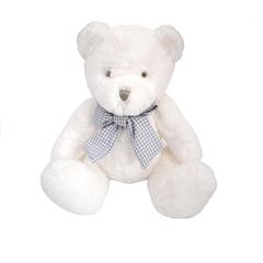 13279 Miś BERDI 25 cm biały z pozytywką