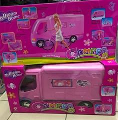 -Auto Kamper różowy NO-1001408