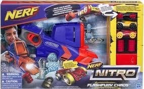 PROM Nerf Nitro Flashfury Chaos + 3samochodyC0788 HASBRO