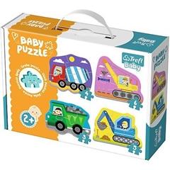 Puzzle - Baby Classic - Pojazdy na budowie