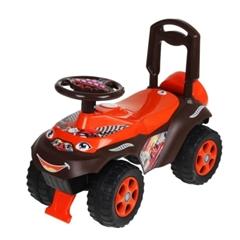 -Jeździk samochód czarno-czerwony z dźwiękiem 0142/01