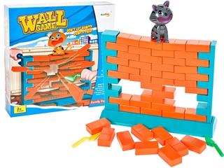 Gra zbuduj mur z kotkiem Spadające CegłyMAL
