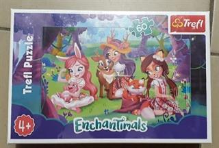 S.CENA Puzzle -   60   - Popołudnie z przyjaciółmi / Mattel Enchantimals