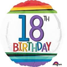 Balon Anagram 18 apos; apos; Rainbow 18 lat 3443201-P