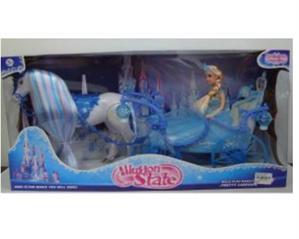 Kareta z lalką i chodzącym koniem TA223A TAS