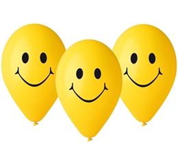Balony Premium Uśmiechy, 12 cali / 5 szt.