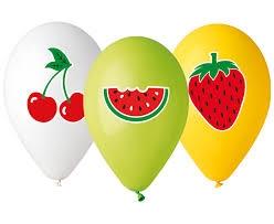 Balony Premium Hel   Owoce  , 13  / 5 szt.