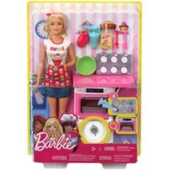 BRB Barbie domowe wypieki zestaw+lalka FHP57