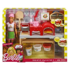 BRB Barbie Pizzeria zestaw+lalka FHR09