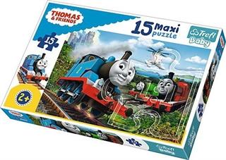 S.CENA Puzzle -   15 Maxi   - Pędzące lokomotywy/ Thomas amp;Friends