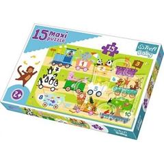 S.CENA Puzzle -   15 Maxi   - Pociąg z cyferkami/ Trefl Baby