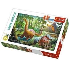S.CENA Puzzle -   60   - Wędrówka dinozaurów/Trefl