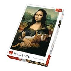 S.CENA Puzzle -   500   -   Mona Lisa i kotMruczek   / Bridgeman