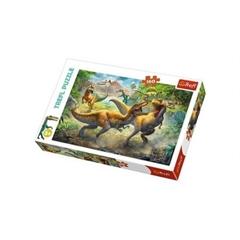 S.CENA Puzzle -   160   - Walczące Tyranozaury/Trefl