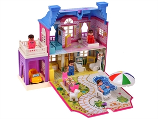 Domek dla lalek z otwieraną ścianą MAL