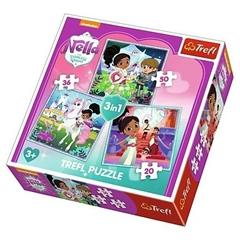 S.CENA Puzzle -   3w1   - Rycerka Nella i jejświat / Viacom Nella the Princess Knight